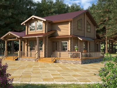дома из бревна под ключ проекты