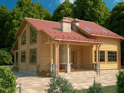 проекты деревянных домов из бревна